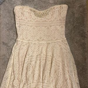 Free People Strapless Beaded Dress Size N
